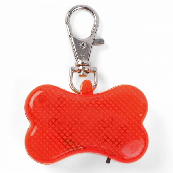 Auto Red LED Dog Tag