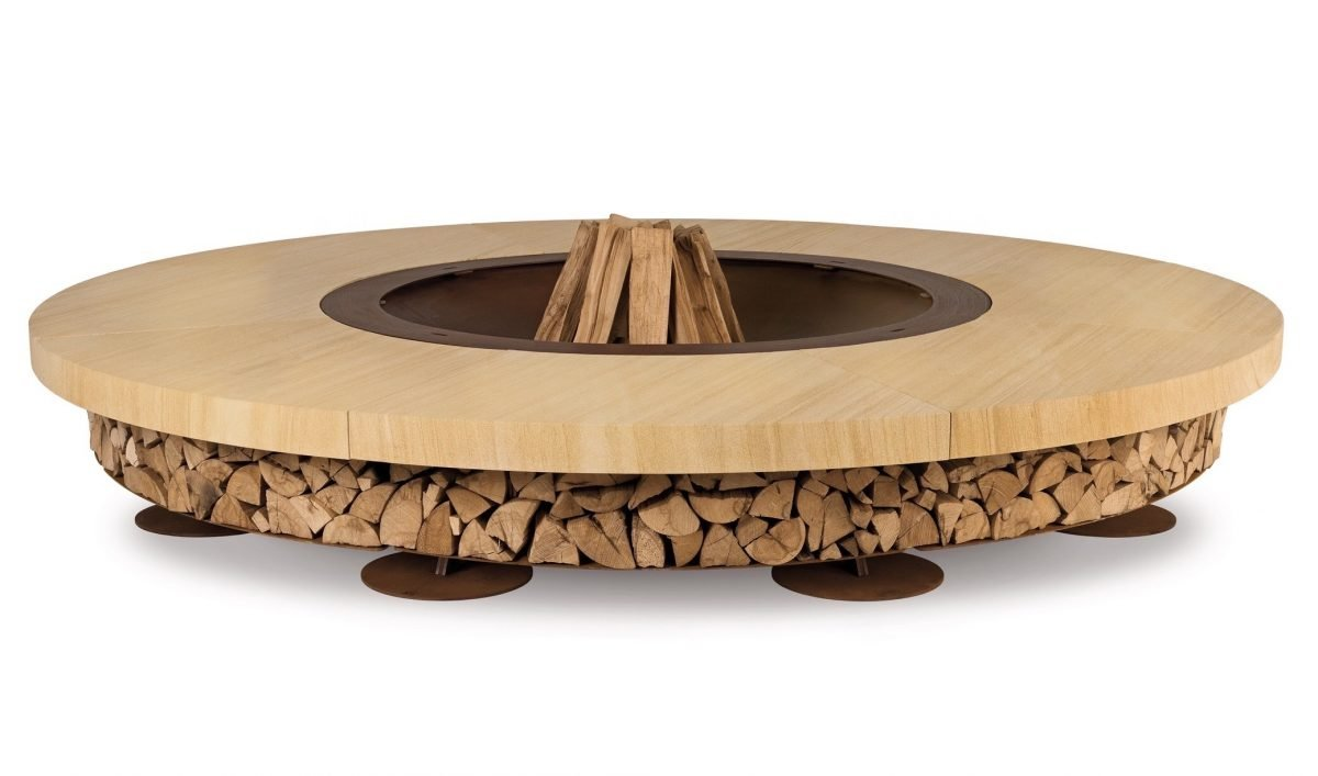 Ercole Marble Fire Pit