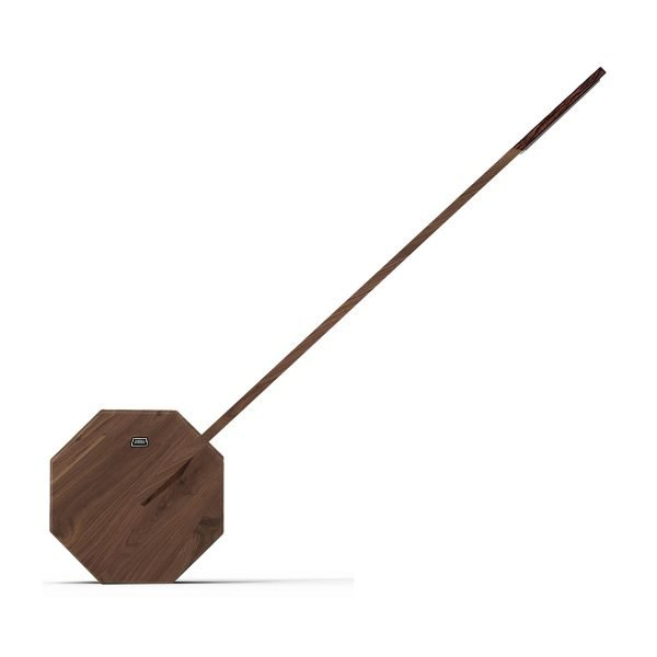Octagon Walnut Desk Light