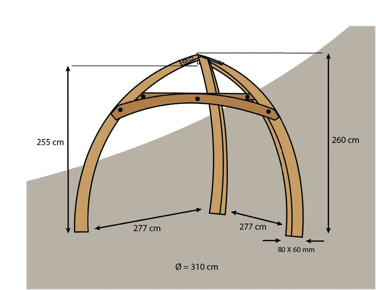 Cacoon Wooden Tripod