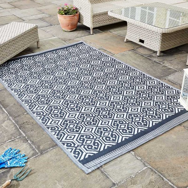 Alfresco Rugs Dark Blue
