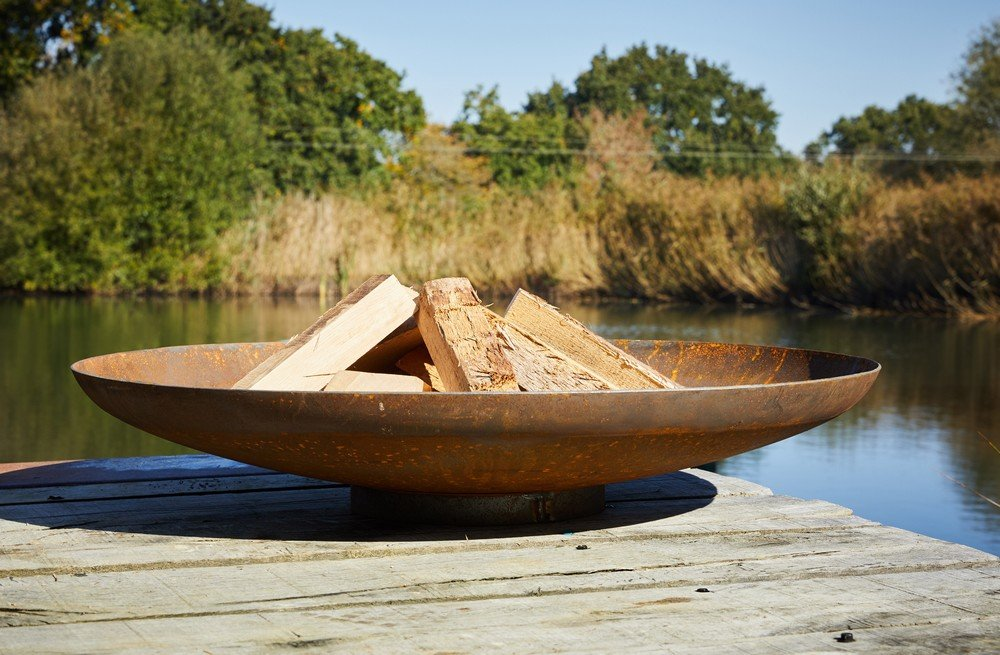 Corten Curved Fire Bowl